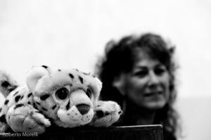 "Laurie e la mascotte ""Cheetah"""