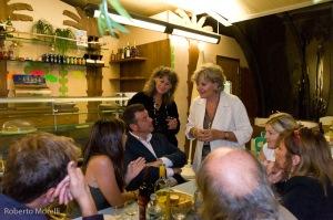 Nel ristorante con gli amici del Parco delle Coronelle