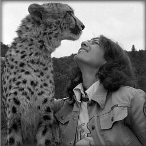 LM with her first cheetah