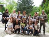 Tutti insieme con la foto omaggio autografata da Laurie!
